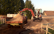 Sas land services  with Mini digger at Winkfield Row