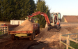 Sas groundworks with Mini digger at Winkfield Row