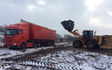 Agro handel og transport aps med Lastbil ved Tinglev
