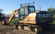 Hazell agricultural services with Excavator at Souldern