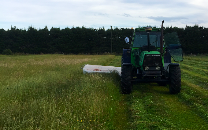 Drummond contracting ltd with Mower at Ashburton