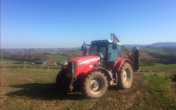 Westbrook agri with Hedge cutter at United Kingdom