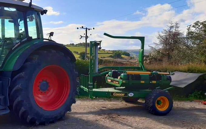 Clarke farming and contracting  with Wrapper at Aymestrey