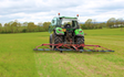 Belsham farming with Tine harrow at United Kingdom