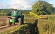 D j lloyd contracting  with Hedge cutter at Vowchurch