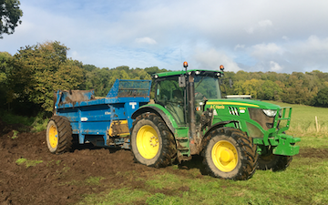 A c harris contracting  with Manure/waste spreader at North Somerset