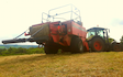 P.r, j.m & s.r houlston agricultural contractors with Large square baler at Glaisdale
