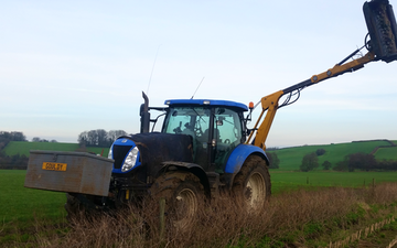 J t gould and son  with Hedge cutter at United Kingdom