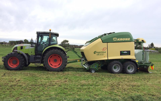 Kalin contracting ltd with Baler wrapper combination at Manaia