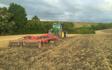 Cornbury farm contracting ltd with Disc harrow at West Lavington