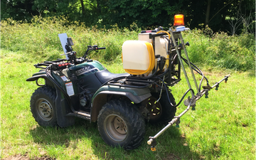 Mead farms with ATV sprayer at United Kingdom