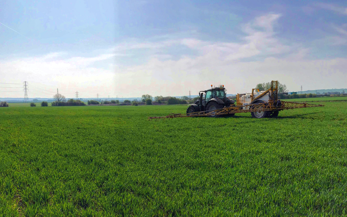 A&s eggleston with Trailed sprayer at United Kingdom