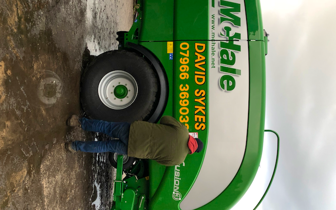 David sykes ltd with Baler wrapper combination at Greenfield