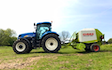 Scott walton contracting  with Round baler at United Kingdom