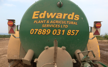 Edwards agricultural services  with Vaccum tank at Bamber Bridge