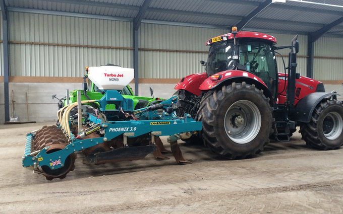 Smith agri with Drill at Edmondsley