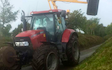 Sam oliver agricultural services  with Hedge cutter at Luxulyan