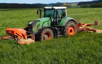 Haybaleman.co.nz with Mower at West Eyreton