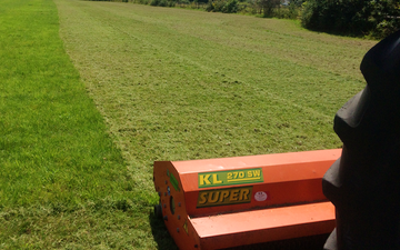 Greencrop forage & contracting with Verge/flail Mower at Russet Way