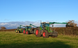 Mill farm ashorne, agricultural contractors with Hedge cutter at Ashorne