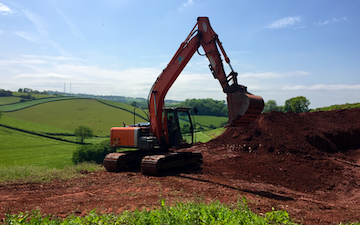 Wildwoods contractors with Excavator at United Kingdom