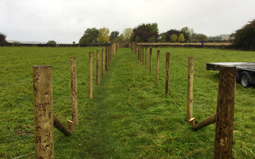 J. hawksworth fencing  with Fencing at Luddenden Foot