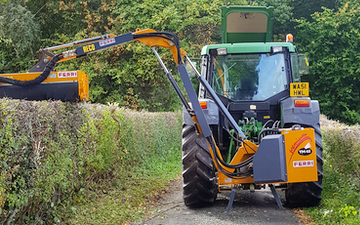 Broad leaf ground maintenance  with Hedge cutter at United Kingdom