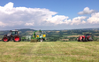 Gj agri ltd with Large square baler at United Kingdom