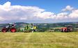 Gj agri ltd with Large square baler at United Kingdom