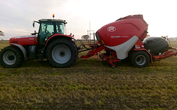 J r hudson with Round baler at Whitemoor Lane