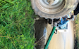 Sam oliver agricultural services  with Slurry pump at Luxulyan