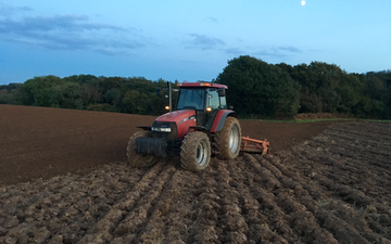 D popham contracting  with Power harrow at Hensol