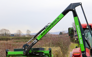 Cornes contracting  with Hedge cutter at Brecon