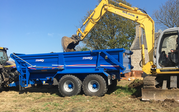 Wilson contractors with Dumper at United Kingdom