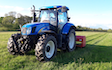 Matthew o'toole  with Meadow aerator at Wichenford
