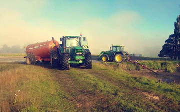 Peter corcoran contracting ltd  with Slurry spreader/injector at Maitland