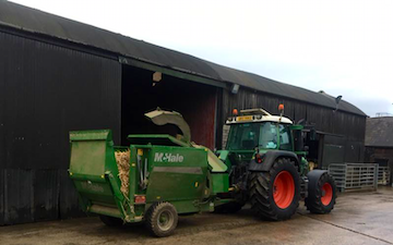 Marshall agri contracts  with Bale processor at Parkgate