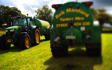 Manford farm contractors  with Slurry spreader/injector at Oswestry