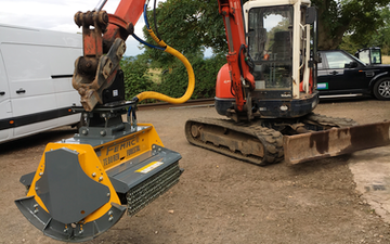 Arbgear ltd with Mulcher at Cookhill