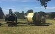 Tom bardwell contracting  with Baler wrapper combination at Weston-super-Mare