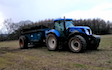 Oakfield contracting with Manure/waste spreader at United Kingdom