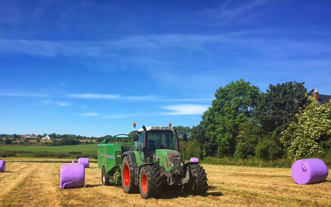 Marshall agri contracts  with Baler wrapper combination at Parkgate
