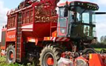 T d sagon contracting  with Beet harvester at Alpheton