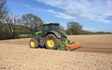 Tom bardwell contracting  with Power harrow at Weston-super-Mare
