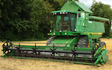 J turner contracting with Combine harvester at Coningsby
