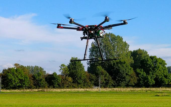 Ecobotix aps med Drone ved Odense