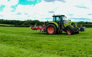 A j robinson grassland subsoiling with Subsoiler at Llanddewi Velfrey