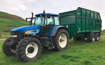 W. f. james & son ltd with Silage/grain trailer at Port Talbot