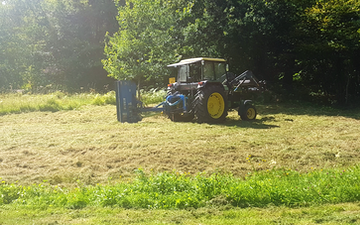 Mowing, moving & muck with Verge/flail Mower at Putley