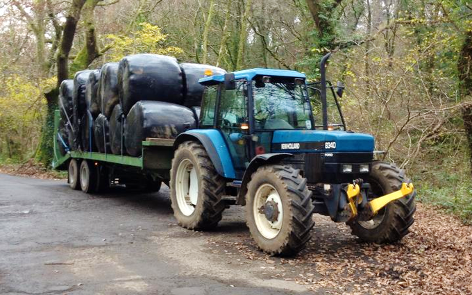 Scott walton contracting  with Flat trailer at United Kingdom